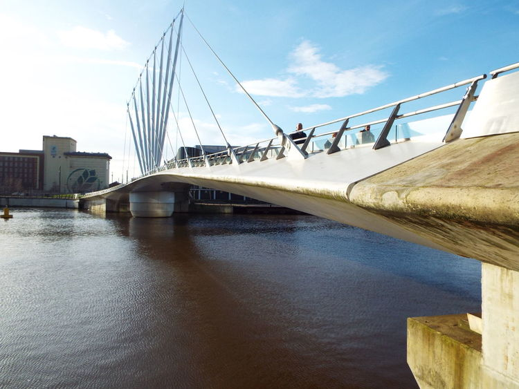 Media City UK footbridge Salford Quays Media City Salford Salford United Kingdom Manchester Ship Canal Bridge