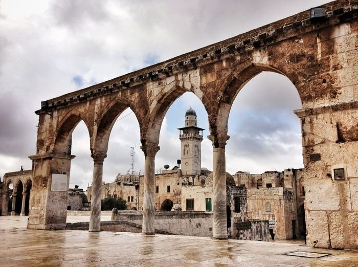 Arch Structure At Al-Aqsa Mosque Against Sky