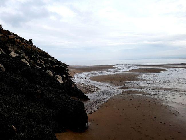 Rivulets Water Wave Sea Beach Sand Low Tide Rock - Object Tide Sky Coastline