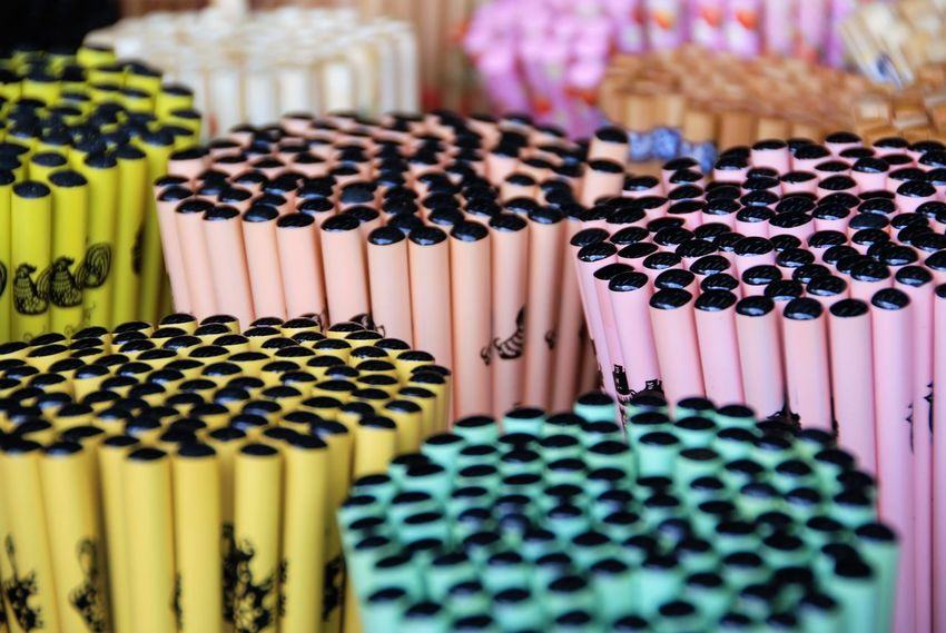 Pencils and Pencils and Pencils! Abundance Close-up In A Row Large Group Of Objects Multi Colored Pencils Potential  Singapore Street Photography Variation
