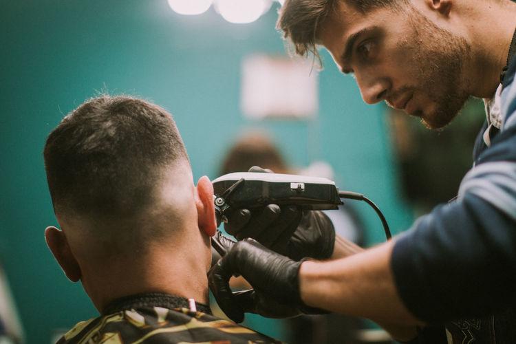 Barbershop stylish haircut