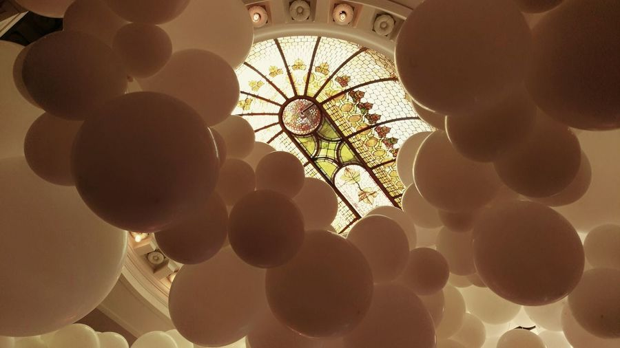 Aboveandbeyond Stained Glass Window Glow Heaven Iphotography Balloons White Sepia Cloud Window Architectural Detail Been There. Vancouver BC The Permanent