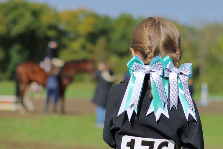 A New Beginning Childhood Child Outdoors Horse Show Horse EyeEm Best Shots Focus On Foreground