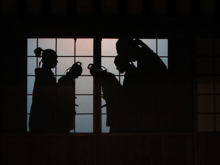 Silhouettes Bowing Bow Bowing Japan Japanese Culture Performance Shadow-art Shadows Shadows & Lights Silhouette Silhouette Silhouettes Of People Kokura Catsle Kokura Castle Kokura Jyo Kokura 小倉城 小倉 Bnw_friday_eyeemchallenge Bnw_shadows This Is Masculinity