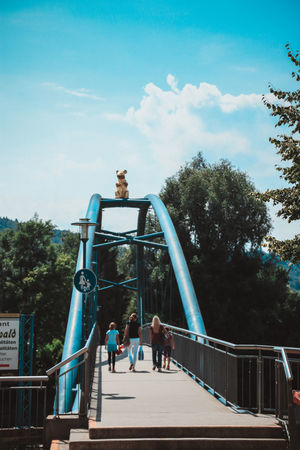 Architecture Bridge Built Structure Childhood Day Full Length Hameln Lifestyles Men Outdoors Park - Man Made Space People Real People Sculpture Sky Tree
