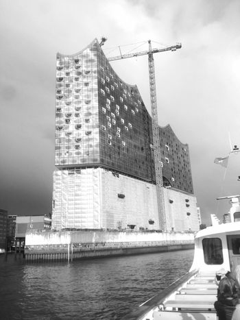 Taking The Ferry and passing the Elbdisharmonie! :D Monochrome Architecture Modern Architecture