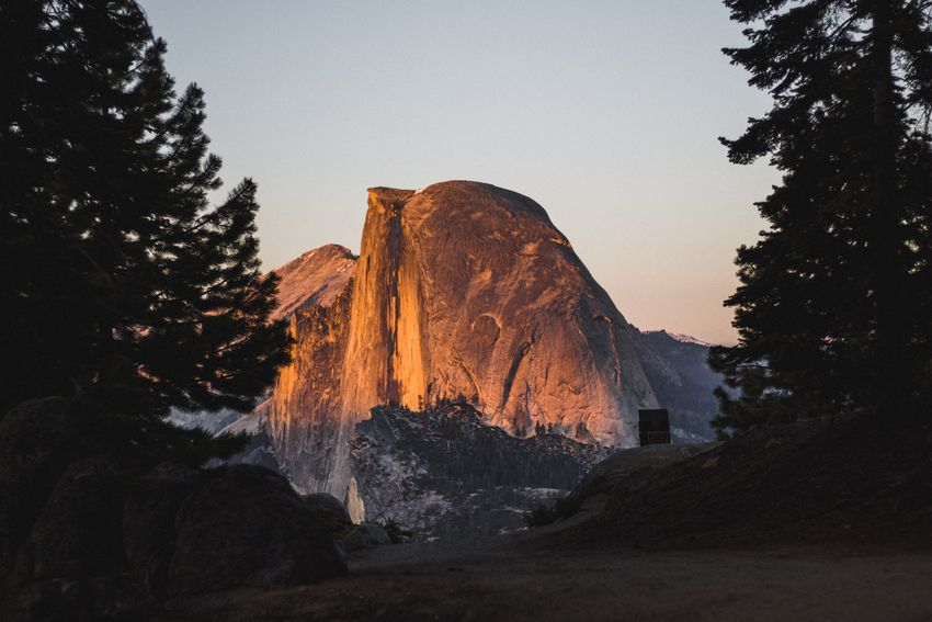Half dome. Yosemite National Park Half Dome Golden Hour Outdoors Outdoor Photography Nature Nature Photography Landscape Sunset
