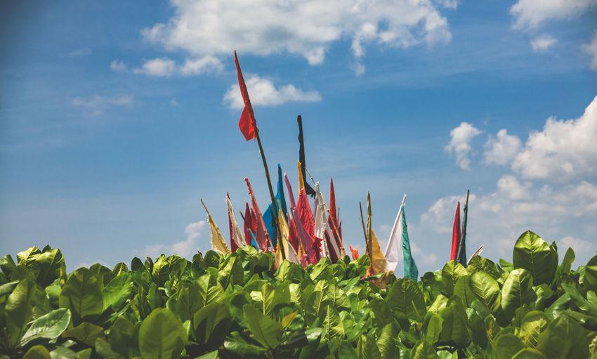 Hinduism Trinidad And Tobago Cloud - Sky Flags Hindu Culture Religous Sky Temple Worshiop