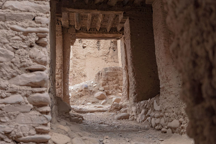 History The Past Ancient Architecture Ancient Civilization No People Old Ruin Building Archaeology Ruined Ruins Castle Ruin Casbah North Africa Middle East Red Brick Building Mud Bricks Archway Hallway Old Tourism Travel Ancient History Stone Wall Castle