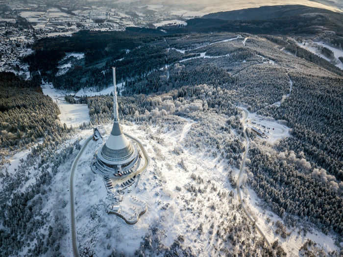 Czech Republic Liberty Beauty In Nature Birdsview Cold Temperature Day Fromwhereidrone High Angle View Jested Landscape Mountain Nature No People Outdoors Scenics Snow Winter