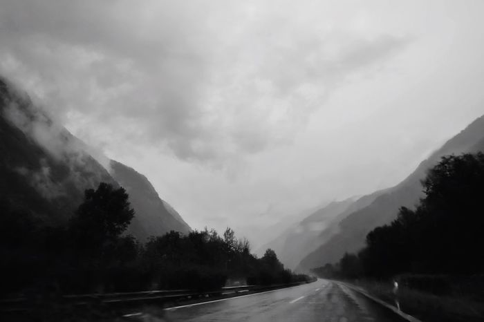 On The Road Again From My Point Of View EyeEmSwiss EyeEm Gallery Exceptional Photographs EyeEm Best Shots On The Road EyeEm Bnw EyeEm Best Shots - Black + White Driving Black And White Monochrome Blackandwhite