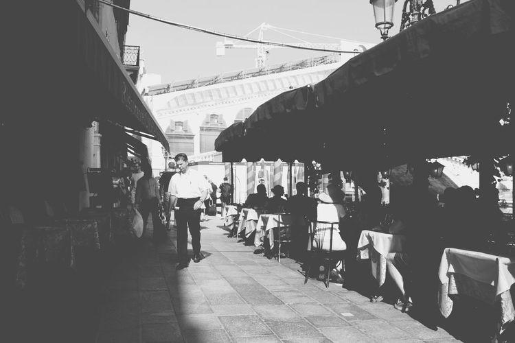 Blackandwhite City Life Venice, Italy Croudy