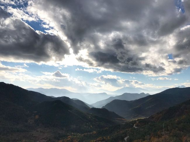 Nature Mountain Beauty In Nature Landscape No People Sky Mountain Range Outdoors Day Iphone7 Photomoments Iphoneonly Photomoment Nature Sky_collection Cloud - Sky Beauty In Nature Catalunya Muntanya