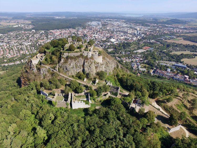 Hegau Germany Mountains Hills Ruine Exploring Drone  Dronephotography