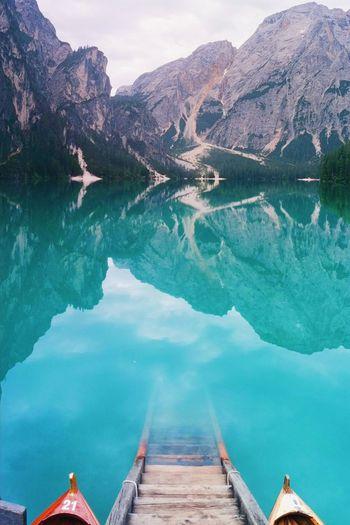 Reflections at lago di braies