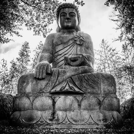 Blackandwhite Buddha Buddha Eden Buddha Statue Day Low Angle View Monochrome Monochrome Photography Nasmgraphia No People Outdoors Place Of Worship Religion Sculpture Sky Spirituality Statue