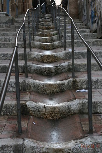 Staircase of old building