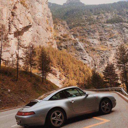 Switzerland Roadtrip Mountain Targa 911 Porsche 993 Car Motor Vehicle Mode Of Transportation Transportation Land Vehicle Road Glass - Material Nature