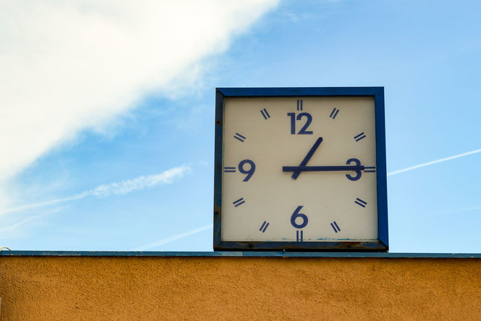 Tick! Tack! City City Life Clock Clock Face Cloud - Sky Hour Hand Low Angle View Minimal Minimalism Minimalistic Minimalobsession Minute Hand No People Outdoors Simplicity Sky Time Urban Geometry Urban Photography Urbanexplorer Fresh On Eyeem
