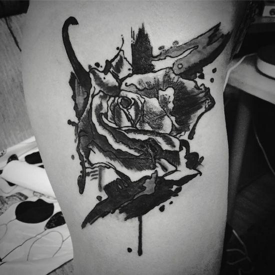 Tattoo Tattooing Tattooed Roses Abstract Blackandwhite