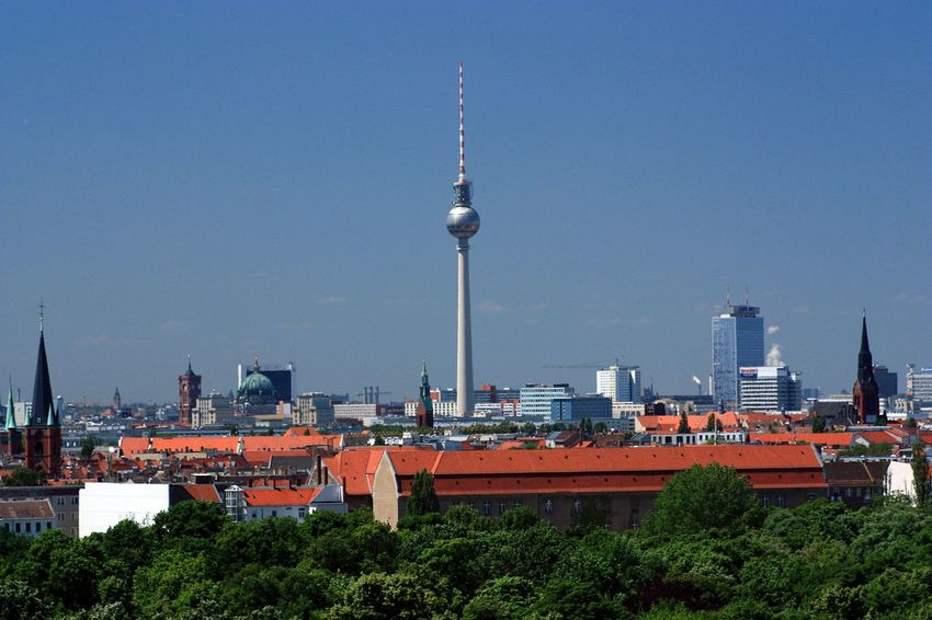 Skyline Architecture Aroundtheworld Building Exterior Built Structure Capital Cities  Capitals  City City City Life Cityscape Communications Tower Eye4photography  Famous Place Fernsehturm Hello World Hi! Scenics Streetphotography Tall - High Television Tower Tourism Tower Travel Travel Destinations Tv Tower Berlin