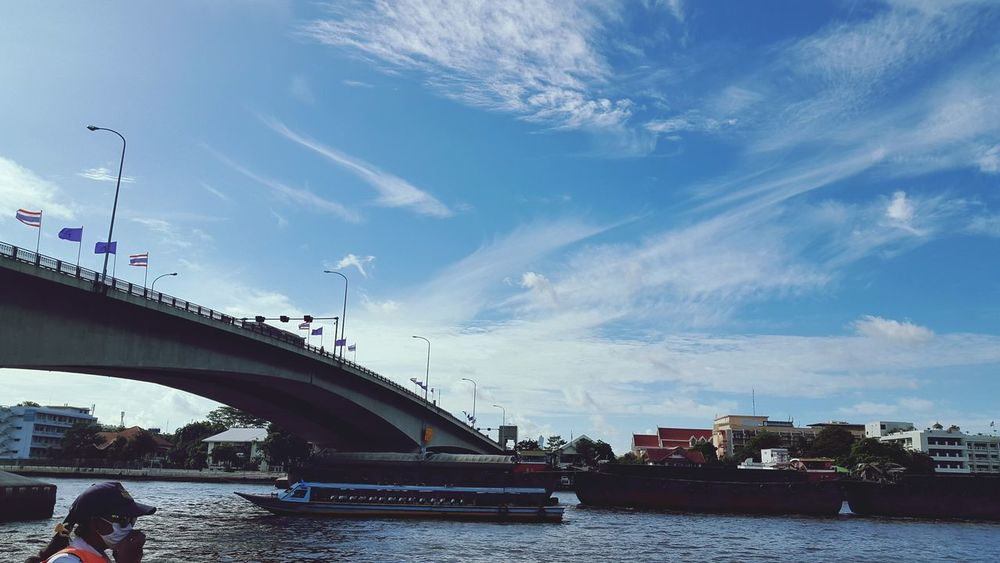 Bridge Daylight Fresh View Architecture Sky And Clouds Skyporn Street Photography River Thailand
