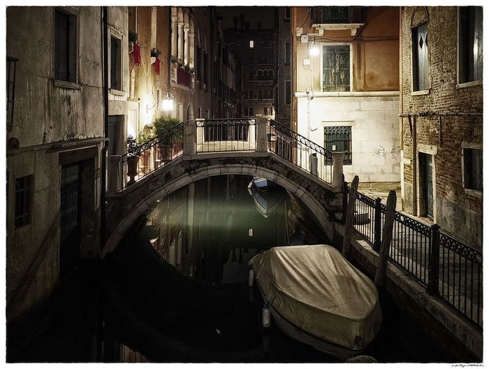 Venedig Venezia Architecture Beleuchtet Bridge Bridge - Man Made Structure Canal Canals And Waterways Illuminated No People Venice Water