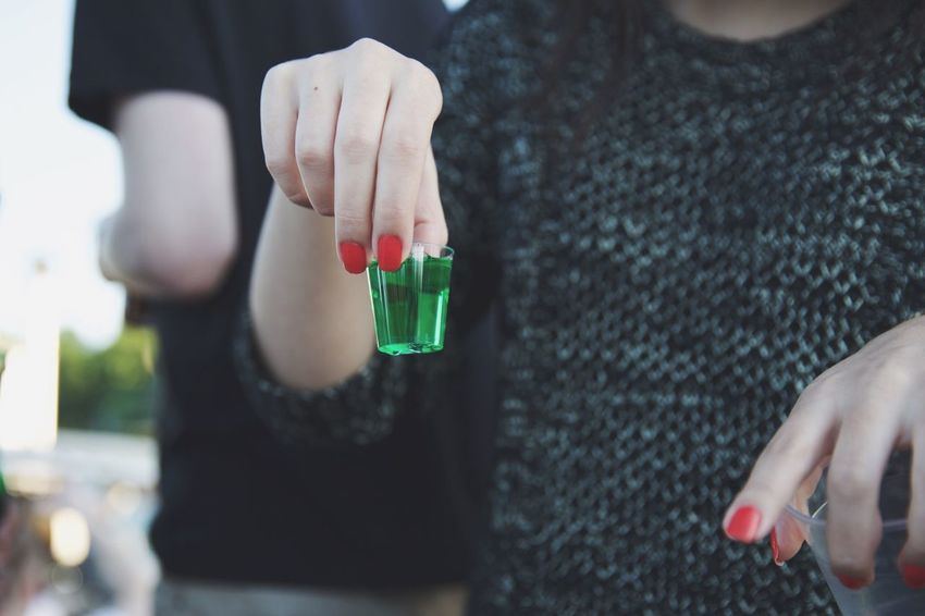 Shots Shot Green Drinks Party Alcohol Girl Fun