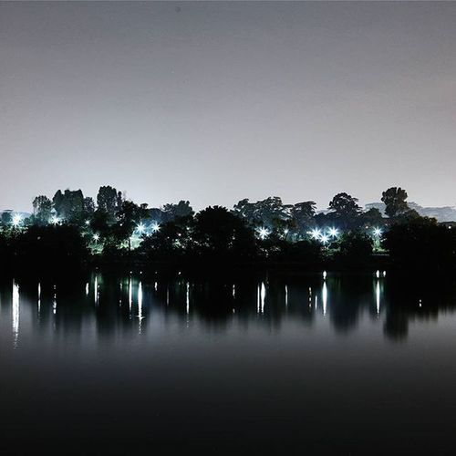 """""""What makes night within us may leave stars."""" — Victor Hugo 墨 ; painterly feels from a Longexposure at woodlands waterway Reflections Symmetry Nightphotography WHPmakebelieve"""