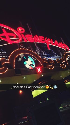 Noël chez Disney ❄️💫 Night Neon Castmember Disney Disneyland Paris Paris Work Santa Christmas Decoration Holiday Winter Myworld Mywork French People Look Snapshots Of Life Snap Snapshot