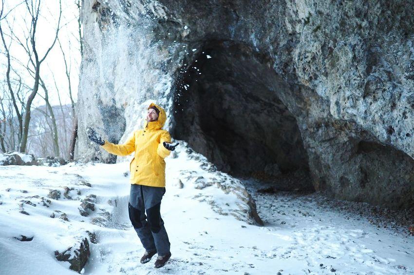 Nowatermark One Person Having Fun Snowflakes Stone Winter Snow Outdoors Motion Nature Positive Message Winterfun Joy Lower Austria Beauty In Nature EyeEm Best Shots