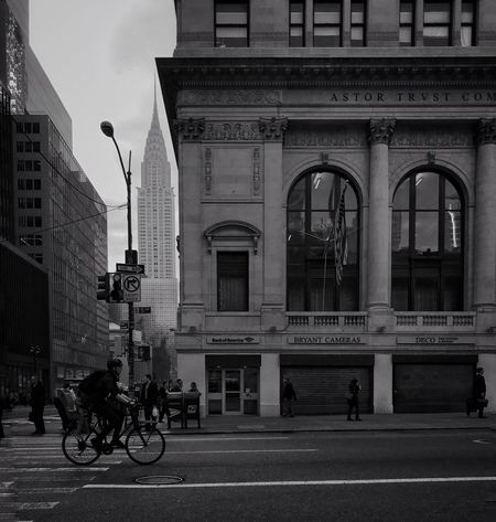 Architecture Bicycle Building Exterior Built Structure Transportation Mode Of Transport Day Outdoors City Blackandwhite TheMinimals (less Edit Juxt Photography)