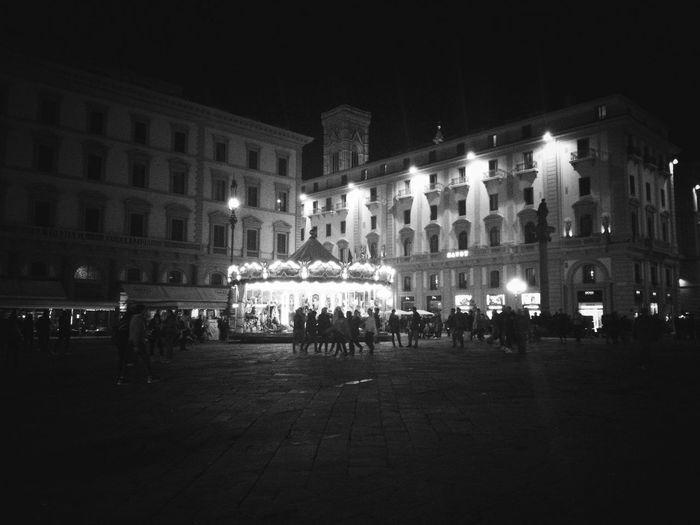 Florence Italy Lights Dark Square