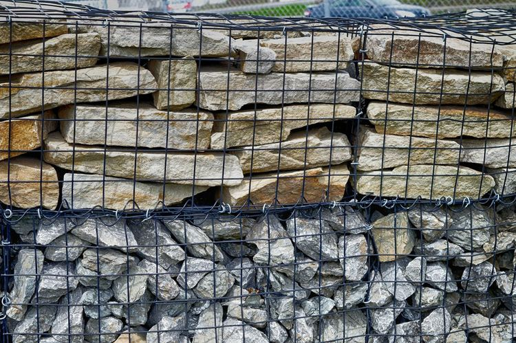 Abstract Abstract Photography Background Day Fence Full Frame Irrigation Large Group Of Objects Mesh Wire Fence No People Outdoors Rocks Stack Stones Street Photography Textured  Timber Woodpile
