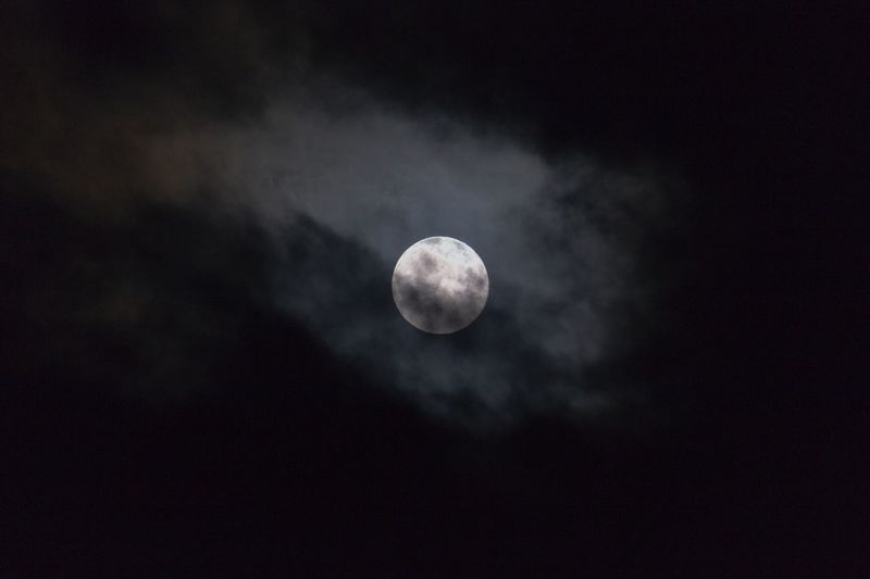 Da Moon. Moon Astronomy Nature Space Exploration Planetary Moon Beauty In Nature Night Tranquility Moon Surface Majestic Scenics Tranquil Scene No People Low Angle View Sky Space Idyllic Full Moon Clouds Outdoors