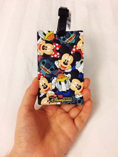 HongKong Disneyland White Background Nametag Mickey Mouse Donald Duck Travel Trip Photo Trip Gift