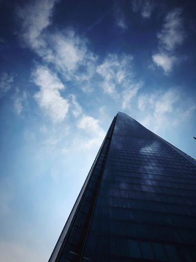 Sky Architecture Built Structure Low Angle View Cloud - Sky Building Exterior No People Office Building Exterior Outdoors Travel City Blue Building Tower Modern Office Skyscraper Nature Tall - High Day The Architect - 2018 EyeEm Awards