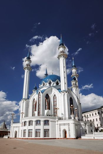 Kazan kremlin EyeEm Selects Sky Architecture Built Structure Building Exterior Religion Belief Low Angle View Travel Destinations Building Gothic Style Outdoors Spire  Blue Tourism No People Nature Cloud - Sky Place Of Worship Spirituality Travel