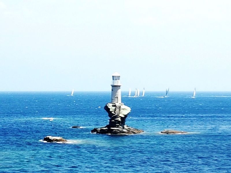 Poseidon Giving The Finger Sea Water Horizon Over Water Nature No People Day Clear Sky Outdoors Beauty In Nature Tranquility Scenics Sky Lighthouse Blue Ciel