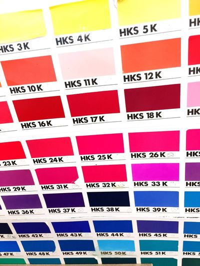 HKS Colorchart Color Explosion Pastels Colorchart Palette Yellow, Green Red Blue Colors Colorful Pantone Hks Indoors  Text Choice Full Frame No People Close-up Day
