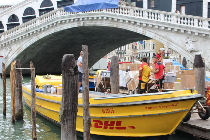 Architecture Boat Bridge Canal Dhl Dhl Boat DHLExpressCo Mode Of Transport River Tourism Transportation Venice, Italy Water Waterfront