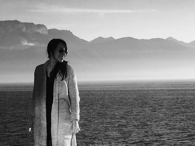 My Love Clouds And Sky Fall Beauty Black & White Enjoying The View November Mountains Shades Of Grey Black And White Lake View