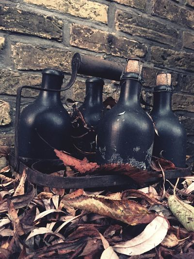 Bottle Abandoned Black Color Old-fashioned Alcohol No People