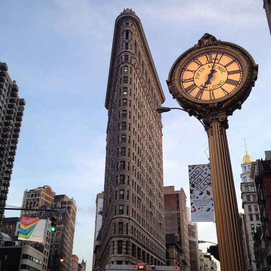 Flatiron Building New York NYC Manhattan Flatironbuilding NYC Photography Newyork Clock Flat Iron Building Building