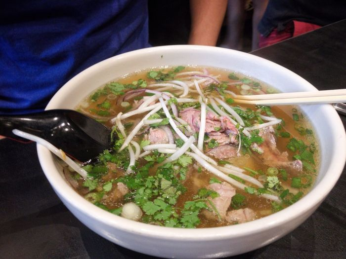 Pho Tai Food And Drink Soup Bowl Noodles Chopsticks Noodle Soup Food Freshness Healthy Eating Ramen Noodles Serving Size Soup Bowl Table Indoors  No People Pho Thai Thailand