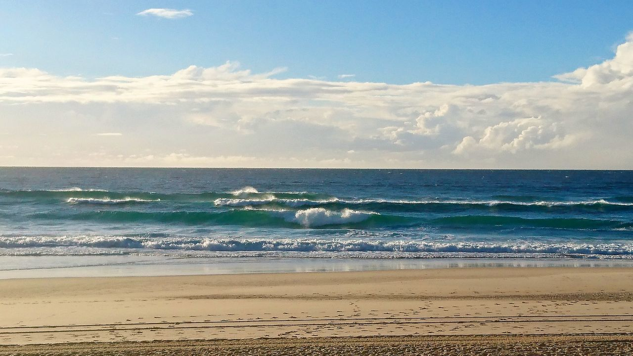 Perfect Waves. Beach Sea Horizon Over Water Tranquility Wave Waves, Ocean, Nature Beachphotography Tranquility Beautiful Surf Photography Relaxing Moments Urban Beach Sand & Sea Calmness Watching The Sea Water Perfect Moment Perfection Perfect Waves