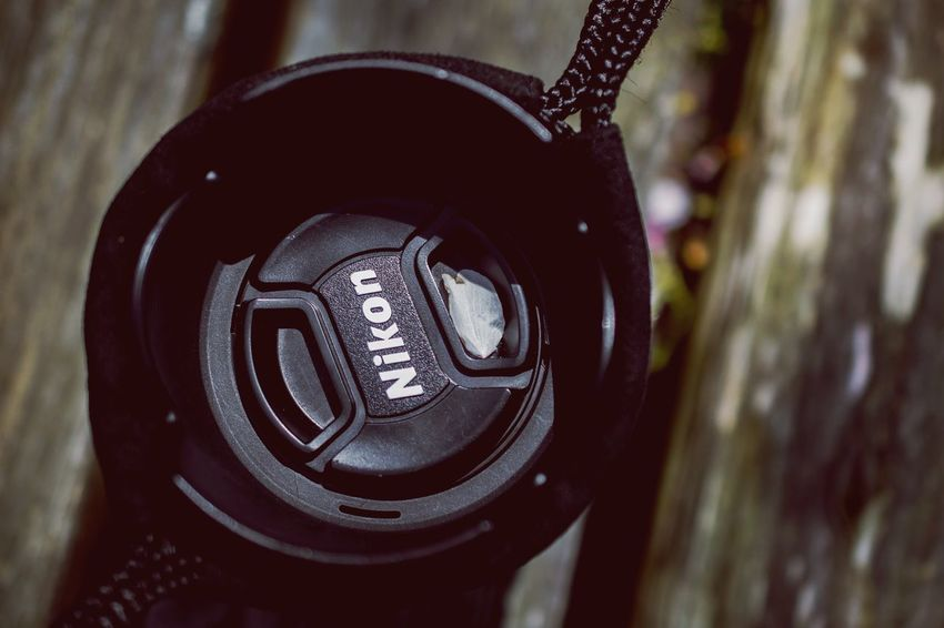 Communication Close-up No People Focus On Foreground Day Outdoors Technology Nikon Lens Cap 🤣やらせっぽい😅 桜の花びら