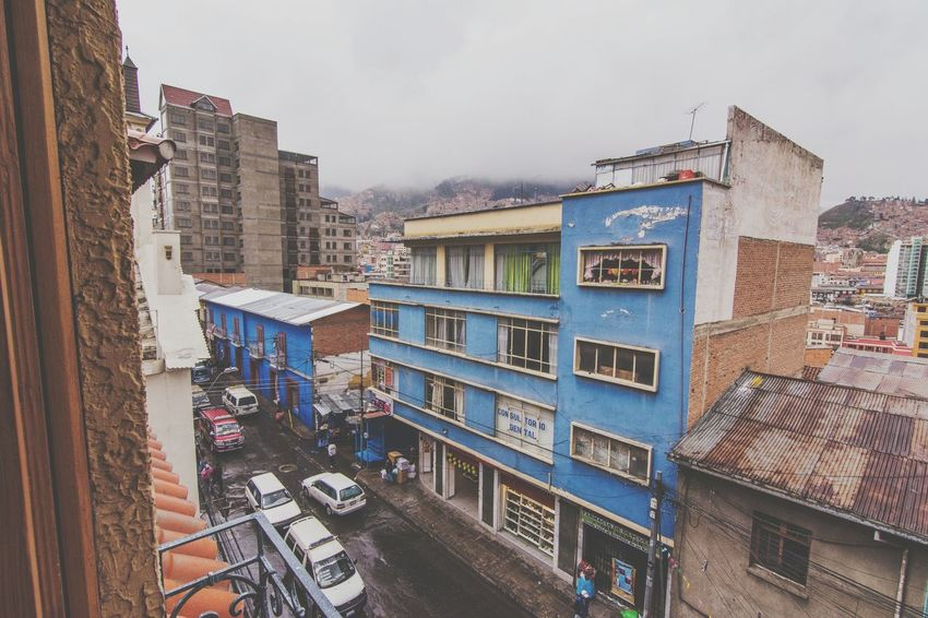 Architecture Building Exterior Built Structure City Transportation Street Land Vehicle Window Residential Building High Angle View Mode Of Transport Cloud - Sky Sky Cloudy City Life Outdoors Day No People Tall Architectural Feature Bolivian Bolivia La Paz La Paz, Bolivia BOLIVIA ❤