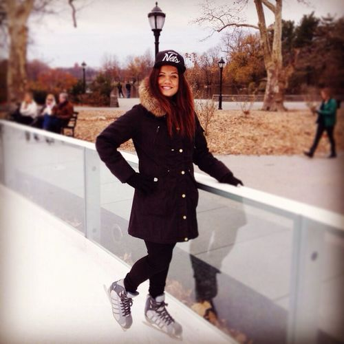 I got some skills today ..Like a Boss! :D I love winter time in NYC ❤️❤️?⛄️ NYC Winter Ice Skating Enjoying Life