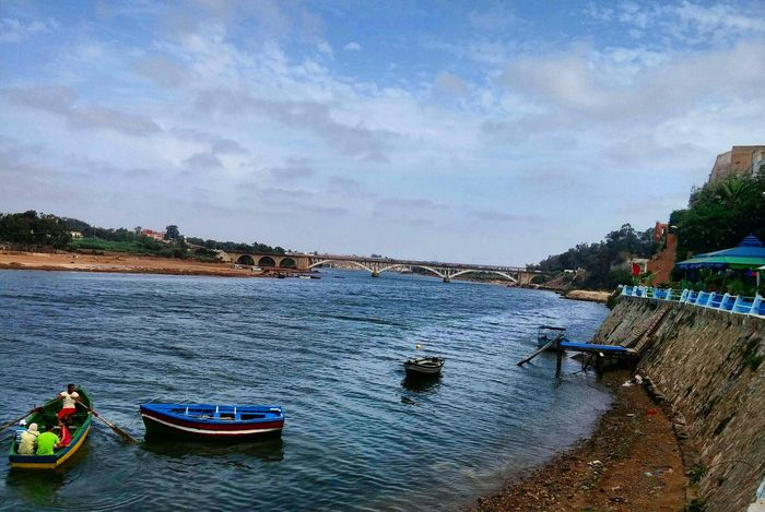 Oued Oum Er Rbia in Azemmour - Morocco Sky Clouds Bridge Water Nature Landscape Taking Photos Colors Blue Enjoying Nature Photo Picture Photography Photooftheday Beauty In Nature Travel Trip Enjoing Life Relaxing Place Nature Photography EyeEm Best Shots Azemour Eljadida Morocco